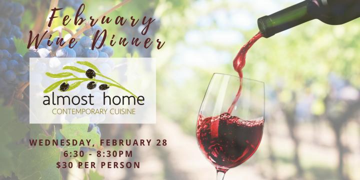 February 28, 2018 Wine Dinner