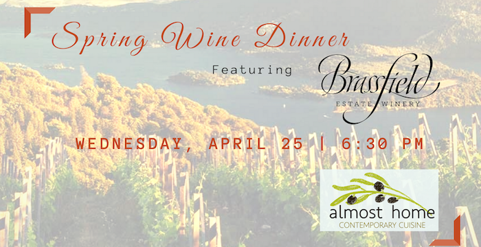 Spring Wine Dinner Featuring Brassfield Winery